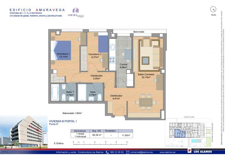 2 habitaciones-pisos-de-obra-nueva-la-corredoria