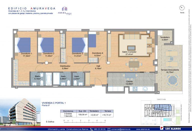 4 habitaciones-pisos-de-obra-nueva-la-corredoria